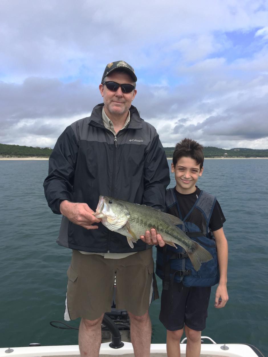 Father & Son Fishing Trip on Lake Travis