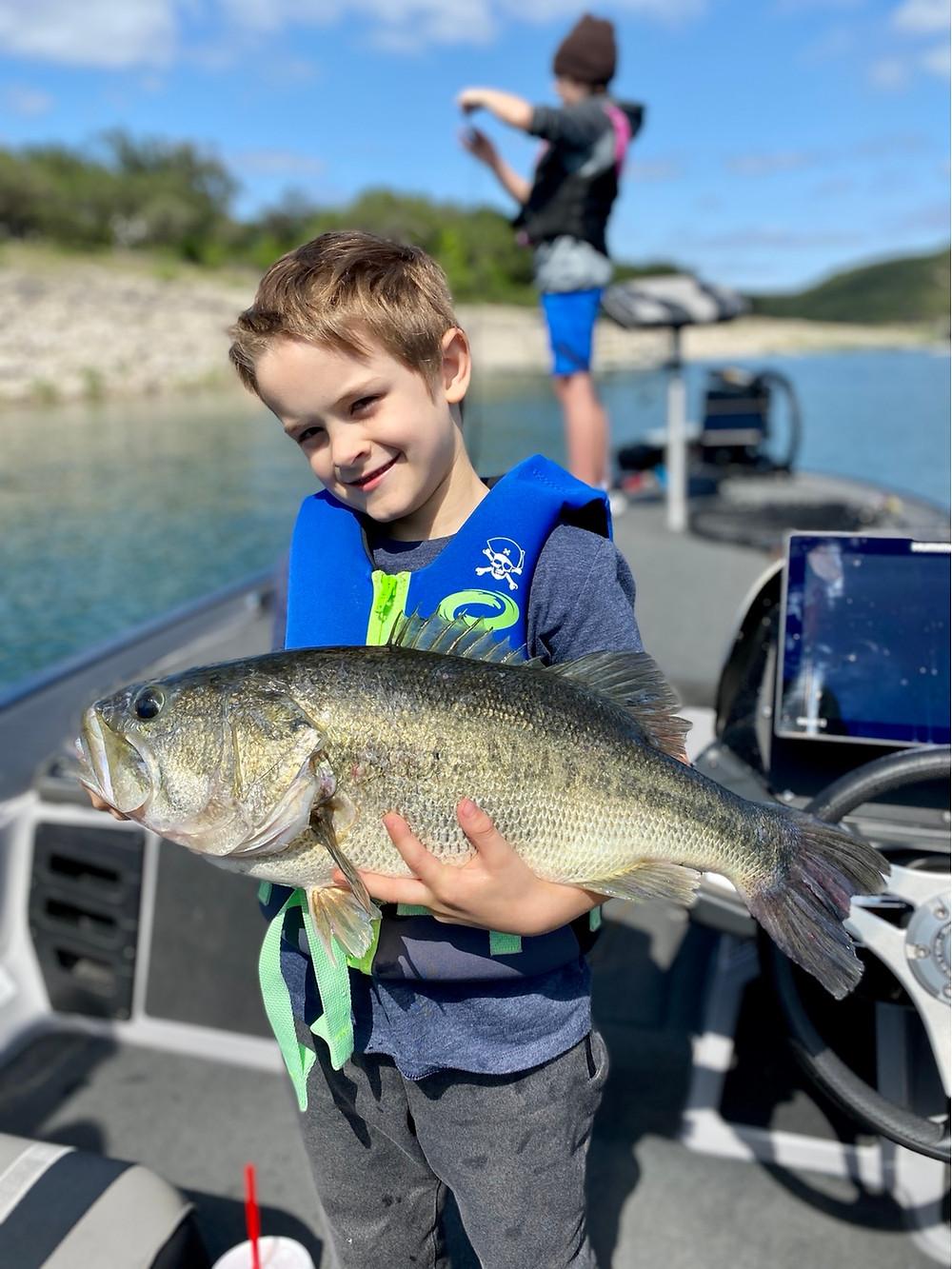 7 pound largemouth bass from Lake Travis