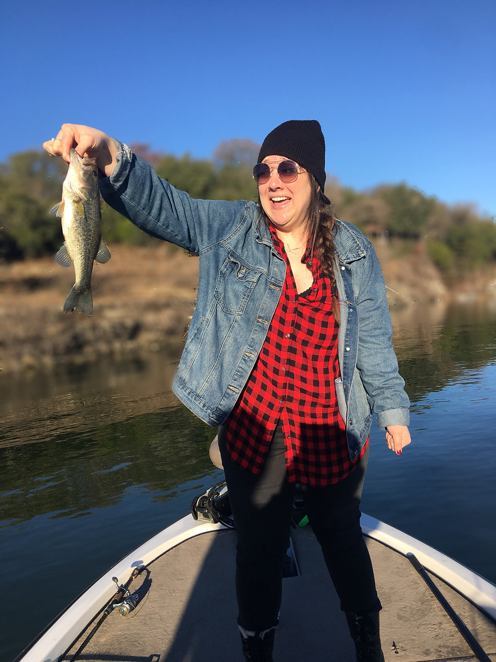 Her first Lake Travis bass