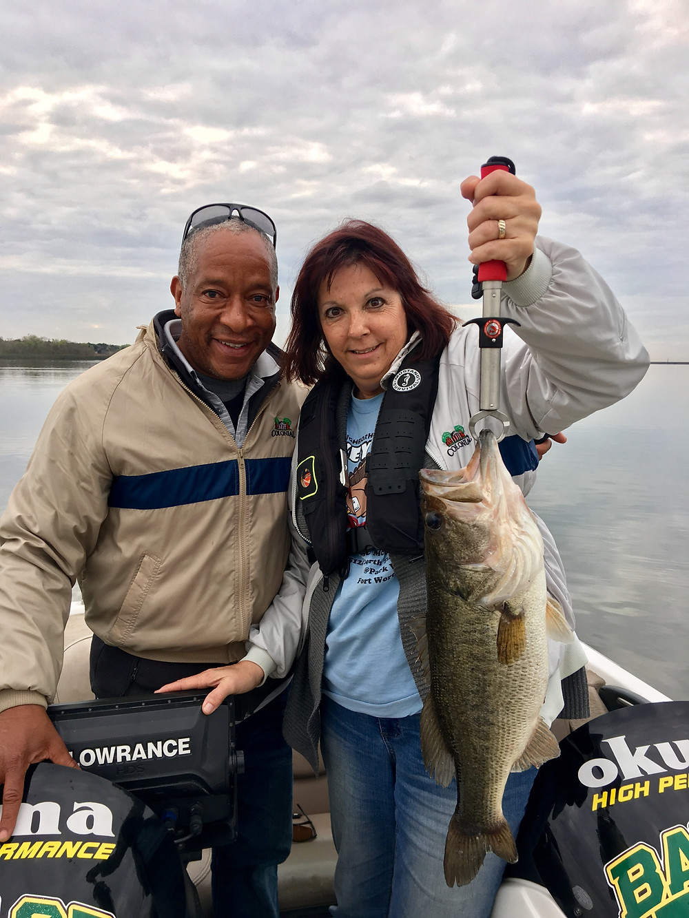 Austin Fishing Guide- Client with her new PB