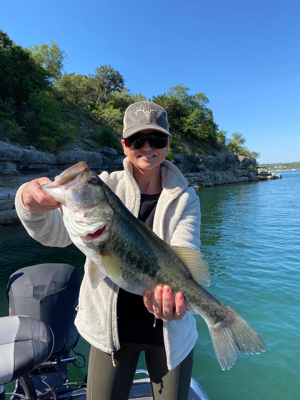 Big Lake Travis largemouth bass