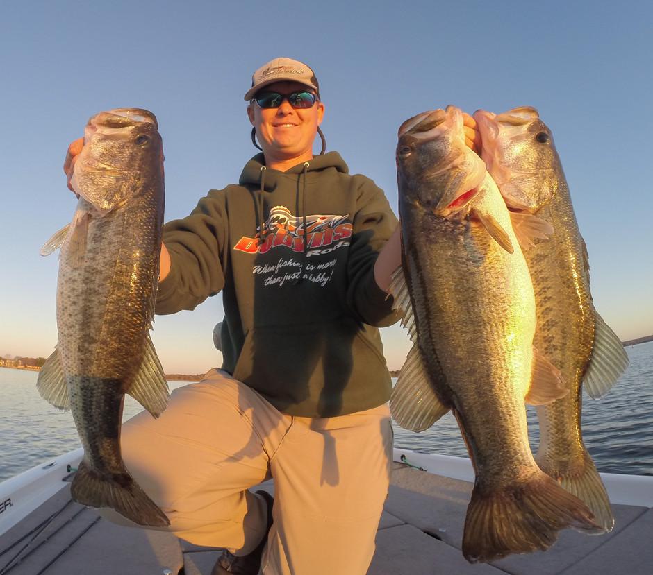 Fishing Lake LBJ During a Draw Down