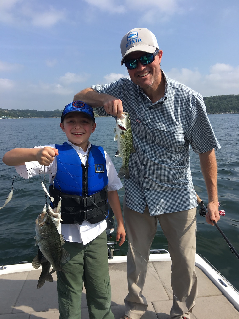 Father and Son with a few bass