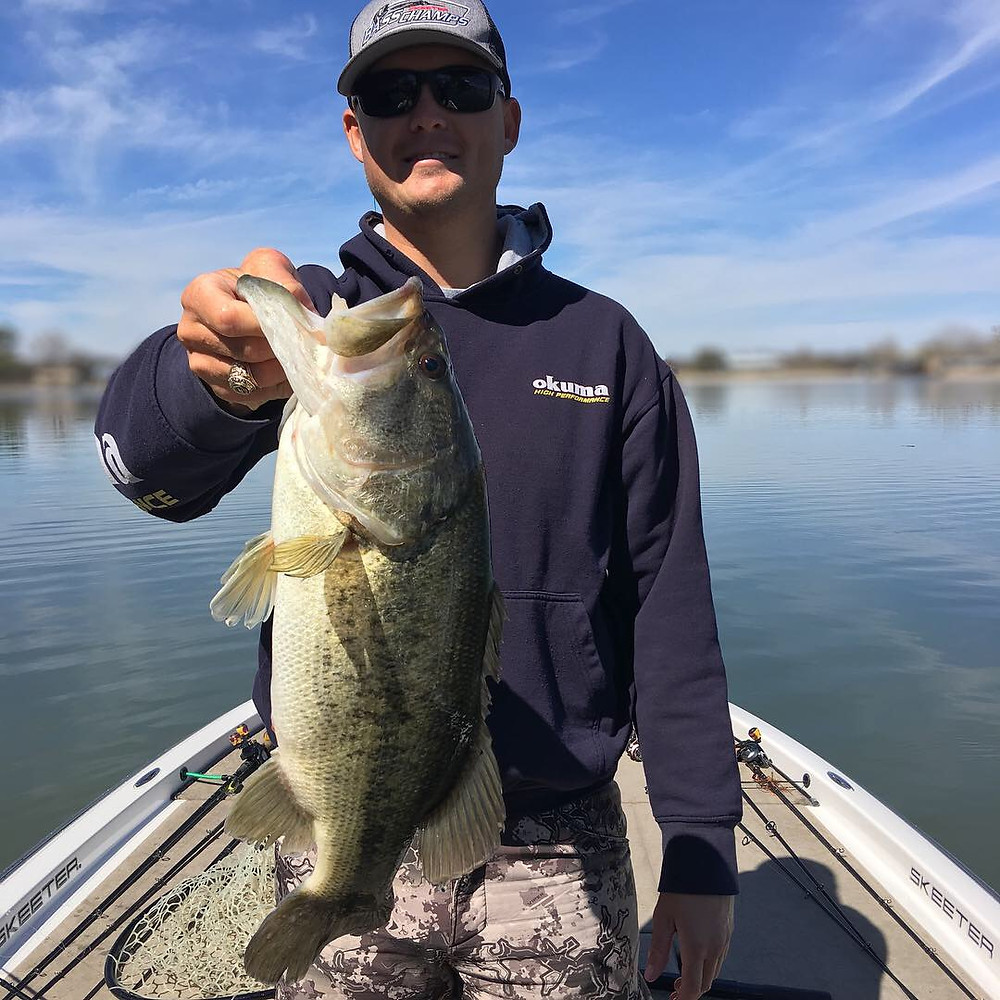 Austin fishing guide with a big pre spawn bass!
