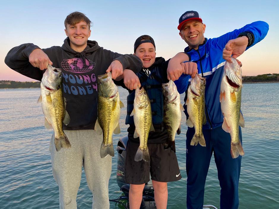 January 5, 2020 Lake Travis Bass Fishing Report