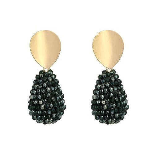 Chloe Green Beaded Earrings