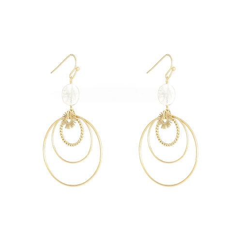 Tia Circular Earrings
