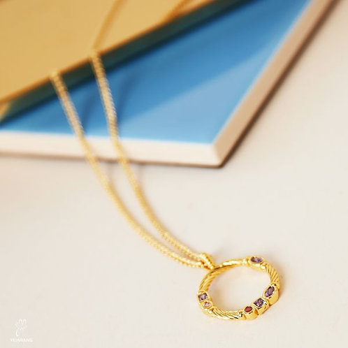Zirconia Circle Necklace