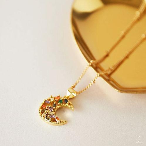 Zircon Moon Necklace
