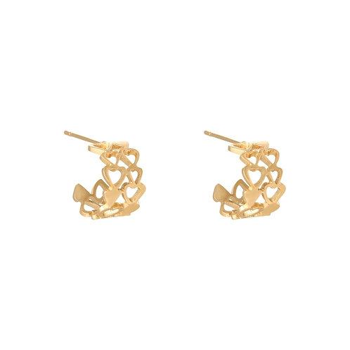 Hayla Bonded Hearts Earrings