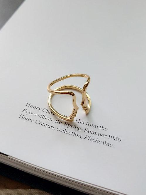 Azra Abstract Ring