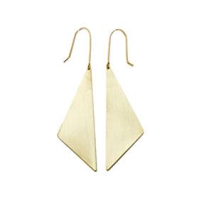 Aria Geometric Triangle Earrings