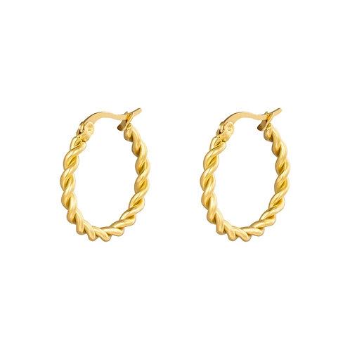 Tora Twine Hoop Earrings