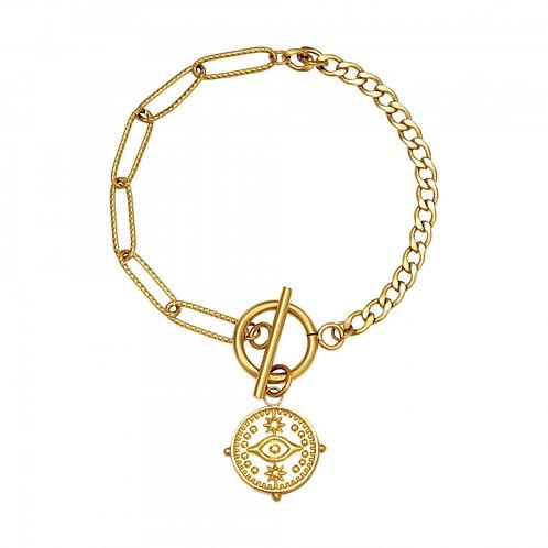 Faye Locked Eye Bracelet