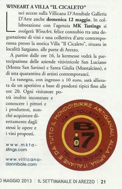 2013-5-10 IL SETTIMANALE DI AREZZO - WINE ART - PG 21