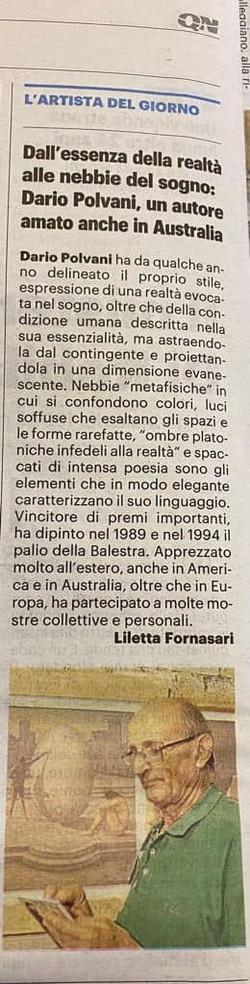 LA NAZIONE: Dario Polvani