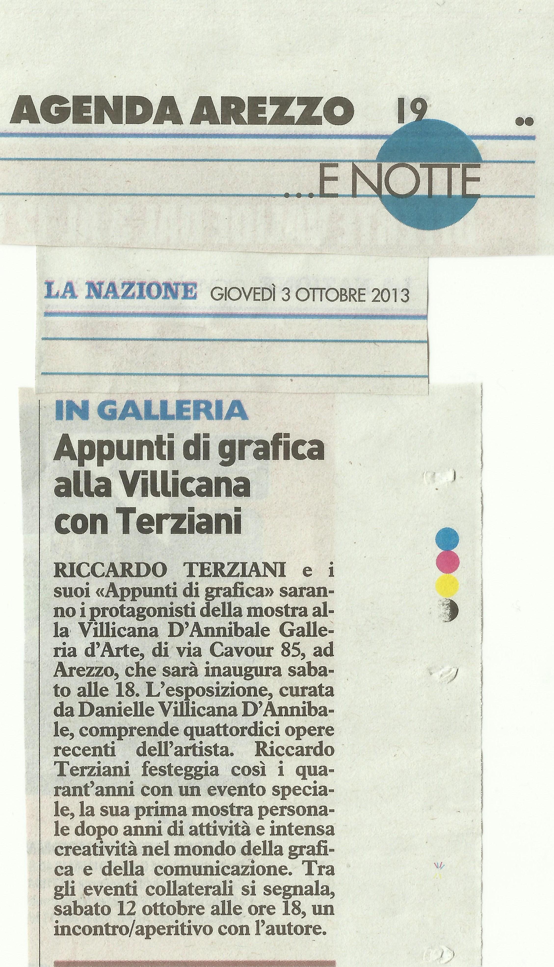 LA NAZIONE: Riccardo Terziani