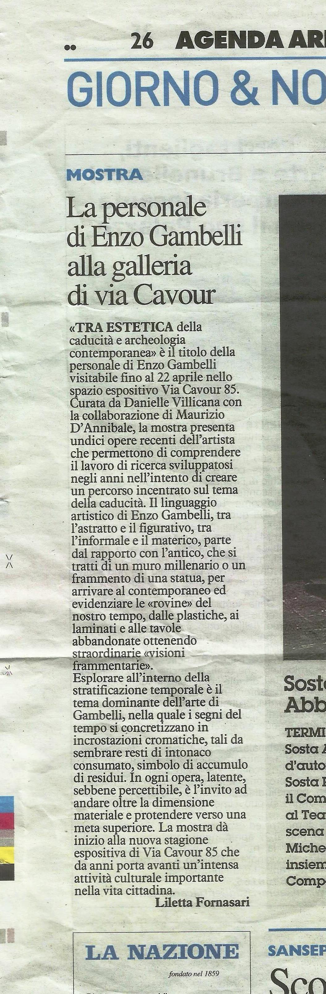 LA NAZIONE: Enzo Gambelli