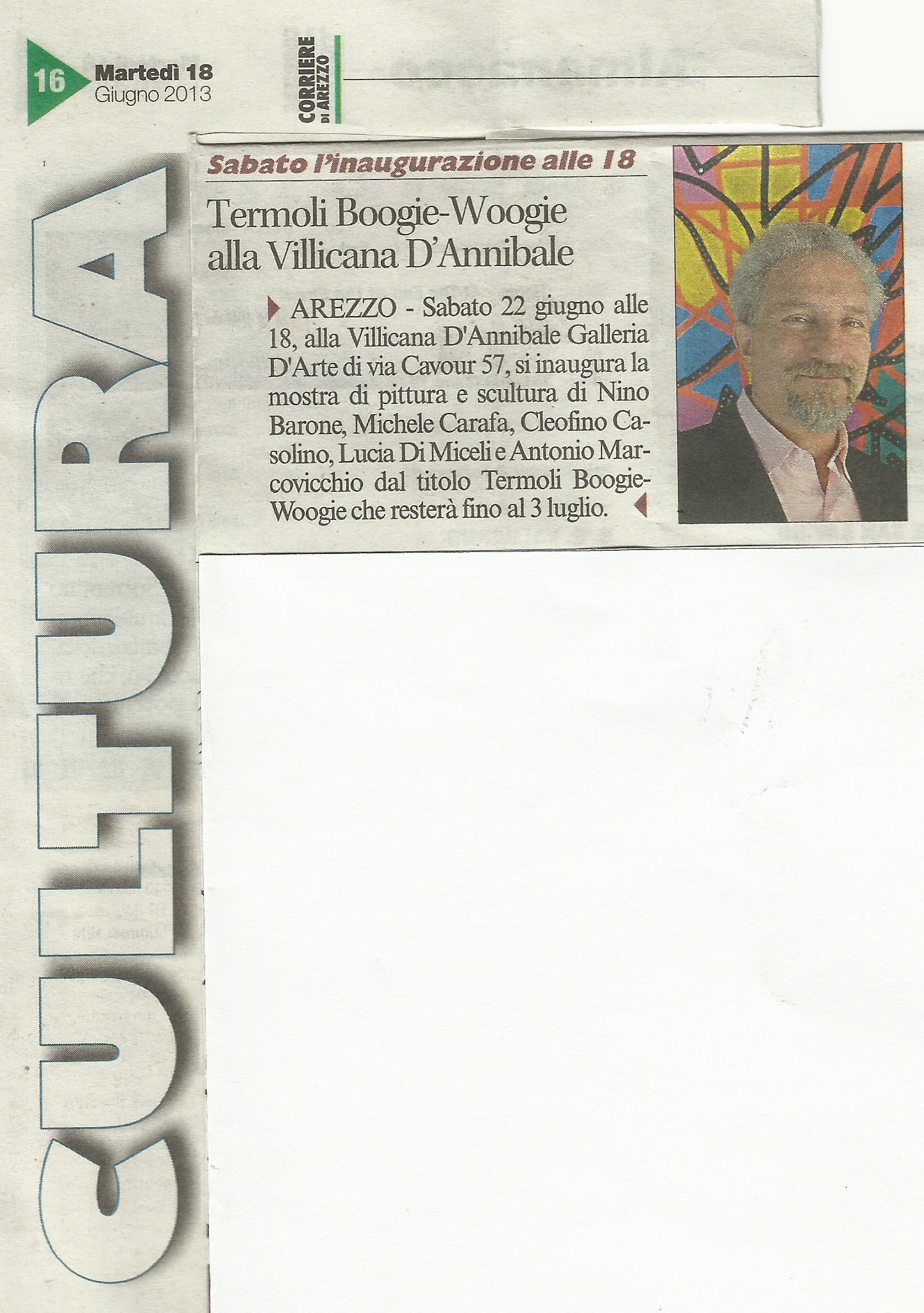 CORRIERE DI AREZZO: Boogie Woogie
