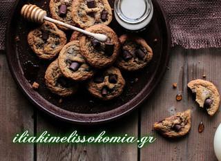 Μελένια μπισκότα με σοκολάτα