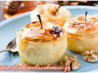 Ξεροψημένα μήλα με μέλι