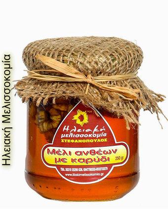 Μέλι ανθέων με καρύδι