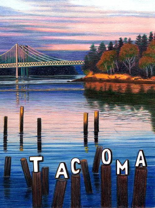 TACOMA at TItlow  11x14 matted print