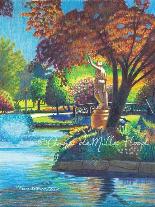 """Wright Park Fisherman's Daughter 11""""x14"""" Matted Print"""