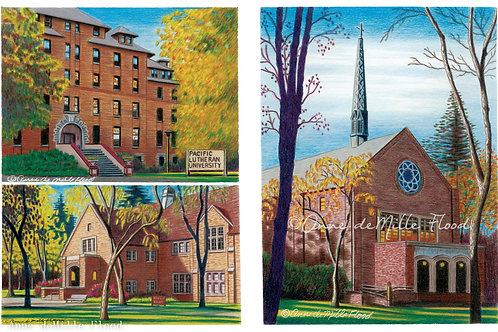 "Pacific Lutheran University 11""x14"" Matted Print"