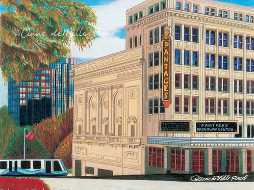 "Pantages Theatre 11""x14"" Matted Print"