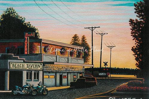 "Beach Tavern 11""x14"" Matted Print"