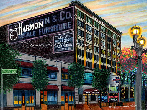 """Harmon Building 11""""x14"""" Matted Print"""
