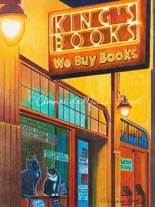 """King's Books 11""""x14"""" Matted Print"""