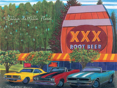 "Triple XXX Root Beer 11""x14"" Matted Print"