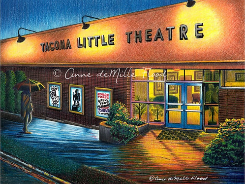 "Tacoma Little Theatre 11""x14"" Matted Print"