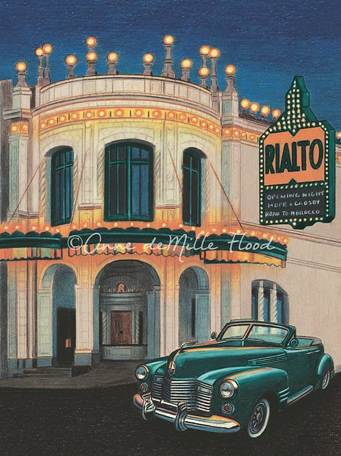 """Rialto Theatre 11""""x14"""" Matted Print"""