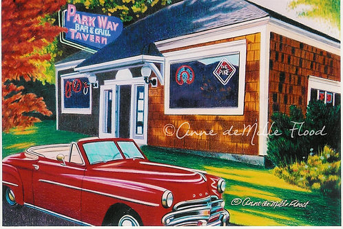 """Parkway Tavern 11""""x14"""" Matted Print"""