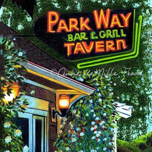 "Parkway Tavern Sign 11""x14"" Matted Print"