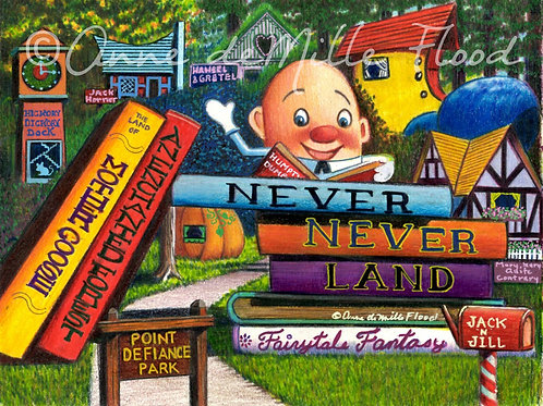 "Never Never Land 11""x14"" Matted Print"
