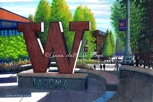 "University of Washington, Tacoma 11""x14"" Matted Print"