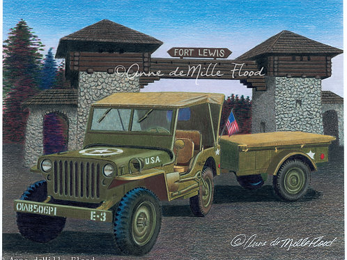 "Fort Lewis 11""x14"" Matted Print"