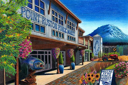 Meet Me at the Public Market! 11x14 matted print