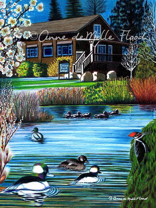 """Titlow Park Early Spring 11""""x14"""" Matted Print"""