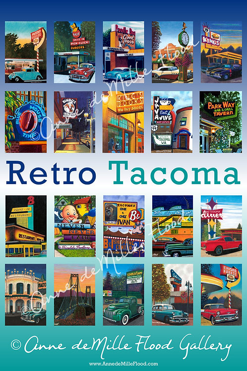 Retro Tacoma Poster