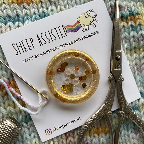 Resin Buttons - Large - Gold Dust