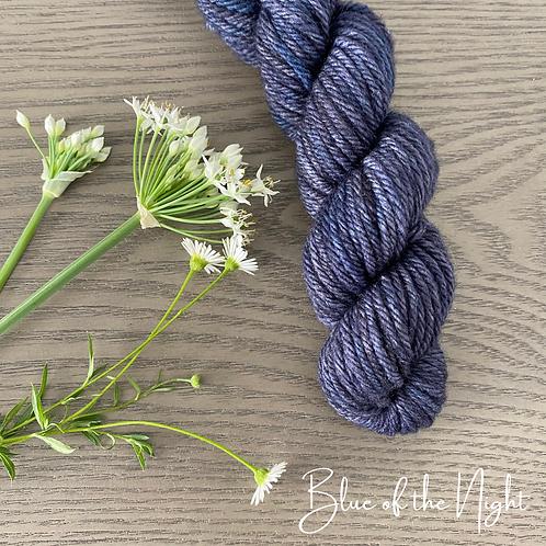 BLUE OF THE NIGHT White Gum Wool 100g