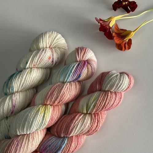 PEACHFETTI 150g Set White Gum Wool 100g