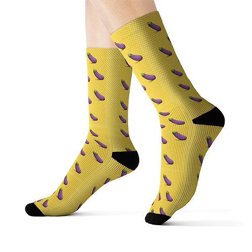 Funny Socks | Eggplant