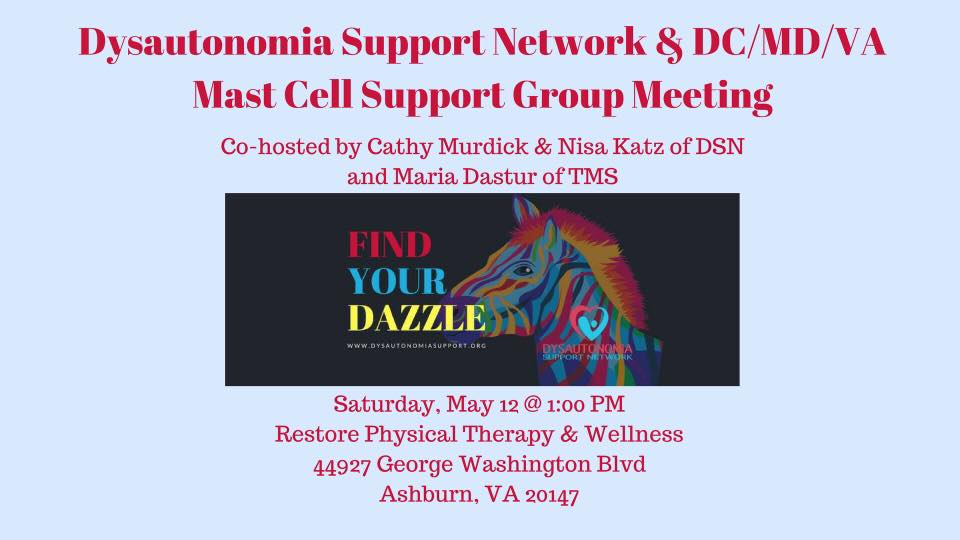 VA DSN & DC/MD/VA Mast Cell Support Group Meeting