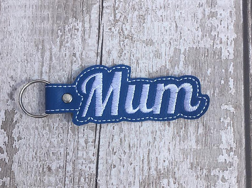 Mum Faux Leather Key Fob